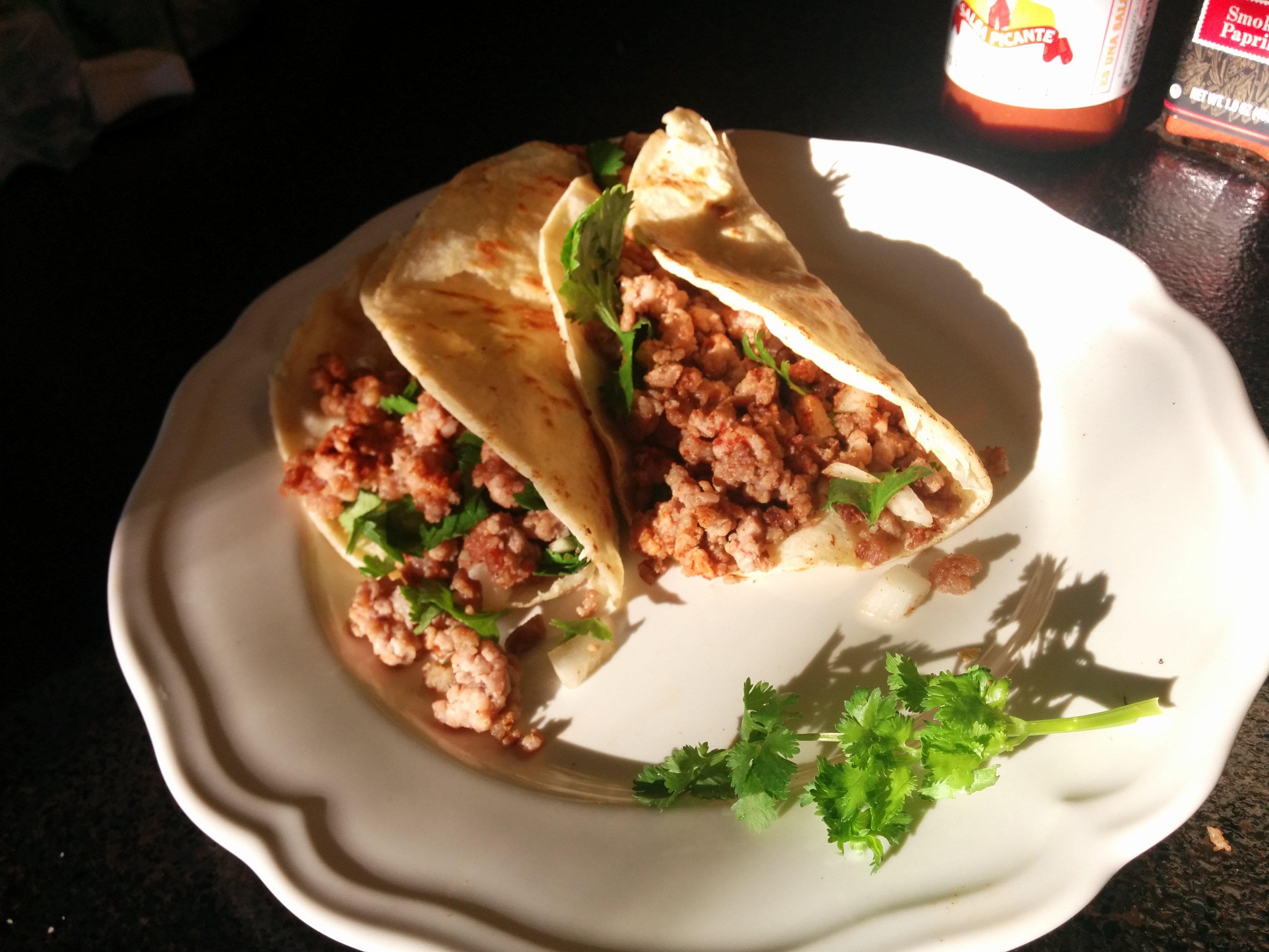 Street Vendor Pork Tacos