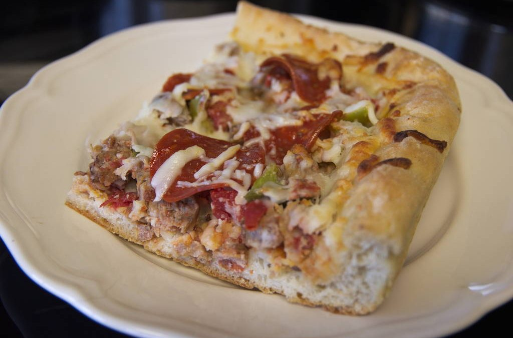 Deep Dish Pizza with Spicy Italian Sausage