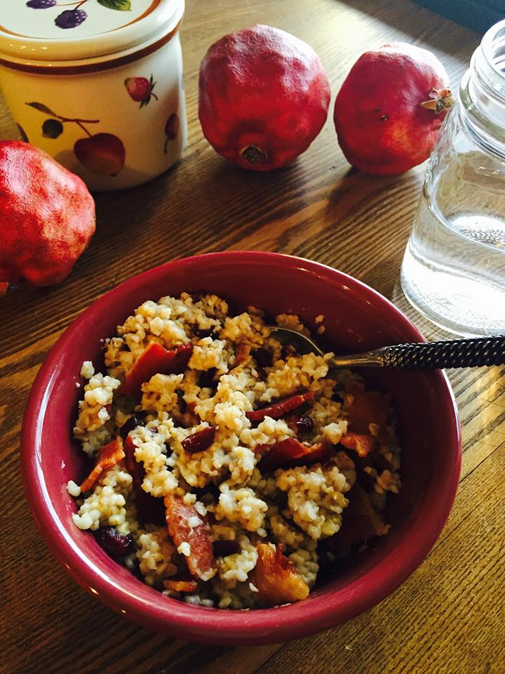 Bacon Cranberry Steel-Cut Oatmeal